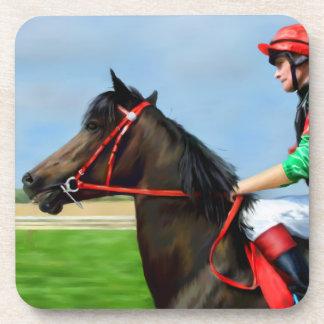 Bunbury Red - Racehorse Art Coaster