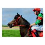 Bunbury Red - Racehorse Art Greeting Card