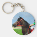 Bunbury Red - Racehorse Art Key Chain