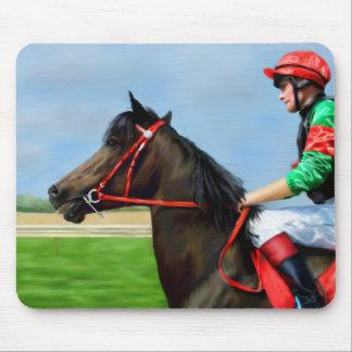 Bunbury Red - Racehorse Art Mousepad