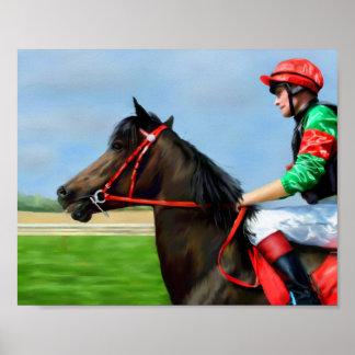 Bunbury Red - Racehorse poster