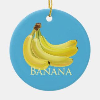 Bunch of Bananas Ceramic Ornament