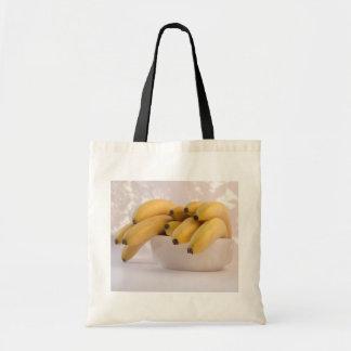 Bunch of bananas grocery tote bag