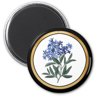 Bunch of Blue Blossoms 2 Inch Round Magnet