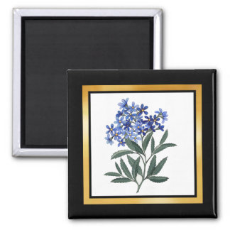 Bunch of Blue Blossoms 2 Inch Square Magnet