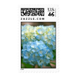 Bunch of blue hydrangeas stamps
