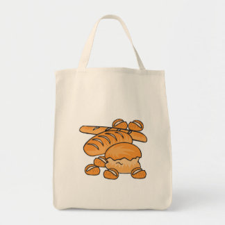 bunch of bread and rolls tote bags