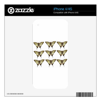 Bunch of Butterflies Skin For iPhone 4S