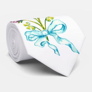 Bunch of clover flowers tie