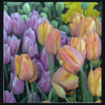 "Bunch of colorful tulips cloth napkin<br><div class=""desc"">Beautiful bunches of colorful spring tulips</div>"
