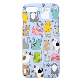 Bunch of Cute and Fun Cats Savvy iPhone 7 Case