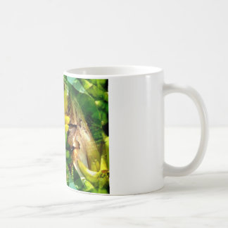 Bunch of delicious yellow and green bananas coffee mug