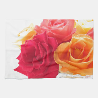 bunch of different roses hand towel