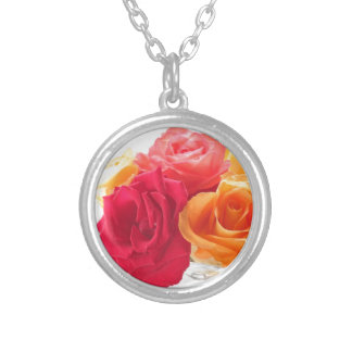 bunch of different roses necklaces