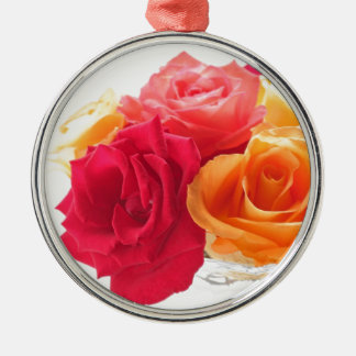 bunch of different roses christmas ornament