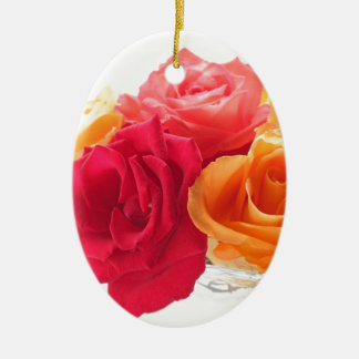 bunch of different roses ornaments