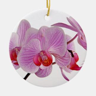 Bunch Of Elegant Pink Orchids Ceramic Ornament
