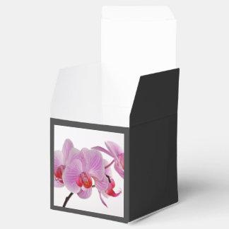 Bunch Of Elegant Pink Orchids Favor Box