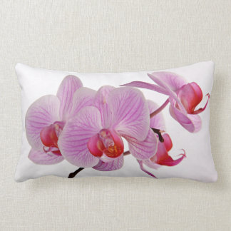 Bunch Of Elegant Pink Orchids Throw Pillow