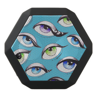 Bunch Of Eyes Blue Black Bluetooth Speaker