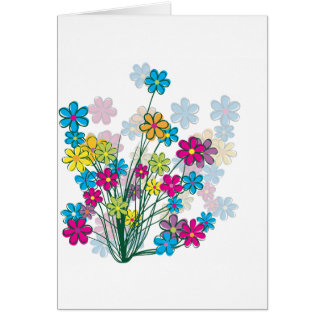 Bunch of Flowers Greeting Cards