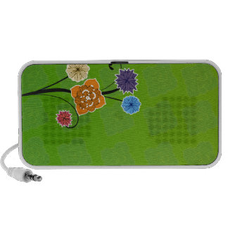 Bunch of flowers in vibrant colors travel speakers