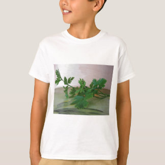 Bunch of fresh parsley on the table T-Shirt