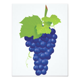 Bunch of Grapes Invitations