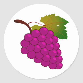 Bunch of grapes round sticker