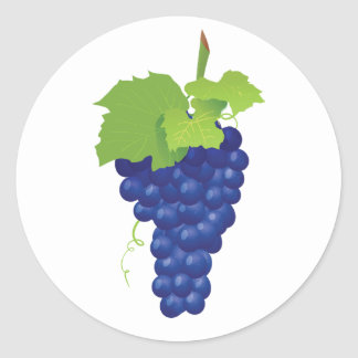 Bunch of Grapes Stickers Round Sticker