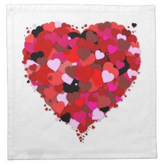 Bunch Of Hearts Cloth Napkin