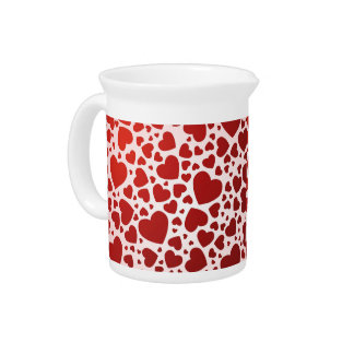 Bunch of Hearts Drink Pitcher