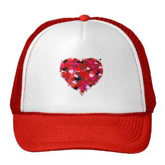 Bunch of Hearts Mesh Hats