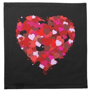 Bunch Of Hearts Napkin