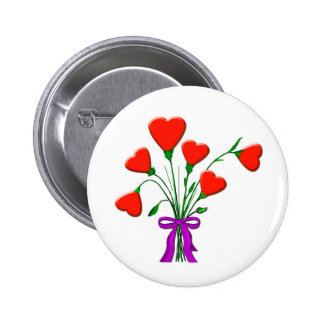 Bunch of Hearts Pinback Button
