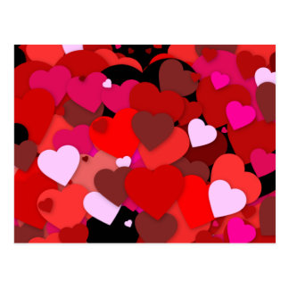 Bunch of Hearts Postcard