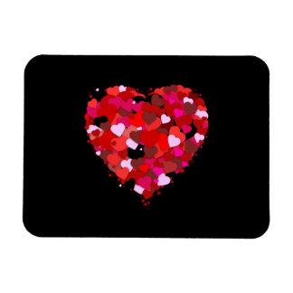 Bunch of Hearts Rectangular Photo Magnet