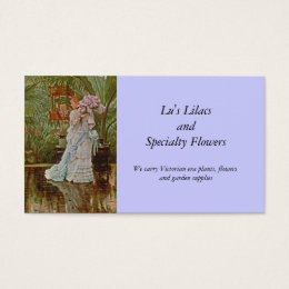 Bunch of Lilacs c1875 Business Card