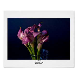 Bunch Of Lilies Poster