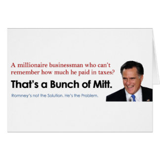 Bunch of Mitt - Taxes Card