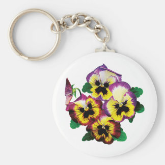 Bunch of Pansies Keychain