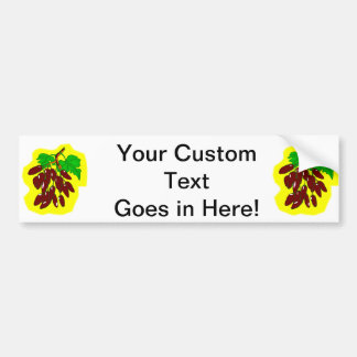 Bunch of peppers with yellow background car bumper sticker