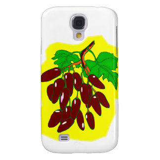 Bunch of peppers with yellow background samsung s4 case