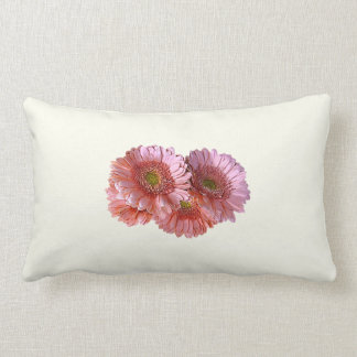 Bunch of Pink Shasta Daisies Pillow