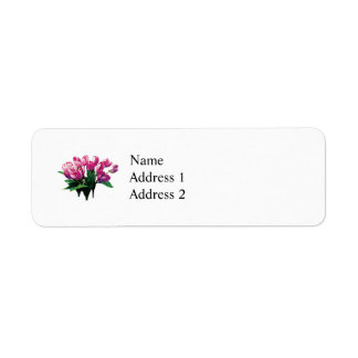 Bunch of Pink Tulips Return Address Labels