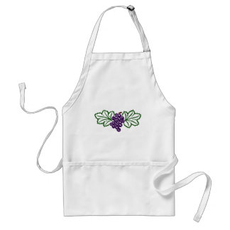 Bunch of Purple Grapes Adult Apron