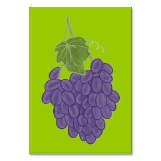 Bunch of Purple Grapes Custom Flashcards Table Cards