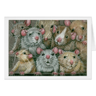 Bunch of Rats at Rattie Reunion Notecard Stationery Note Card