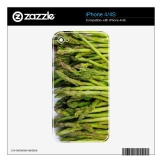 Bunch of Raw Asparagus on White Decals For iPhone 4S