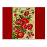 Bunch of Red Flowers Post Card